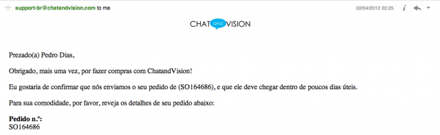 Email Chat and Vision
